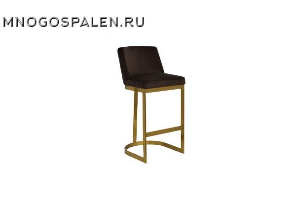 Стул барный на металлическом каркасе коричневый купить в салоне-студии мебели Барселона mnogospalen.ru много спален мебель Италии классические современные