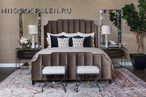КРОВАТЬ BONY2 160Х200 КОРИЧНЕВЫЙ Р купить в салоне-студии мебели Барселона mnogospalen.ru много спален мебель Италии классические современные