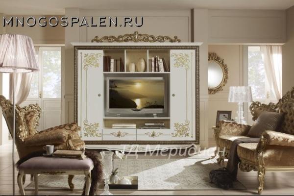 Гостиная Стефани купить в салоне-студии мебели Барселона mnogospalen.ru много спален мебель Италии классические современные