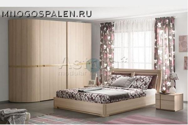 Спальня Sp003 Астрон купить в салоне-студии мебели Барселона mnogospalen.ru много спален мебель Италии классические современные