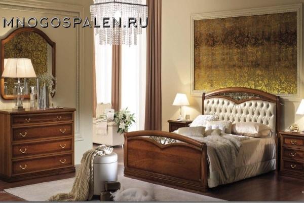 Спальня Nostalgia noce Camelgroup купить в салоне-студии мебели Барселона mnogospalen.ru много спален мебель Италии классические современные