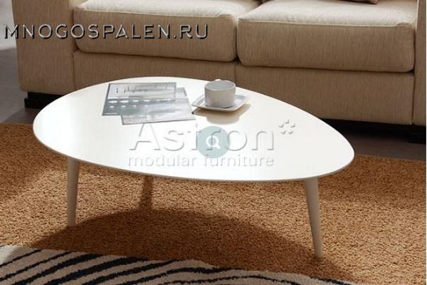 Овальный журнальный столик As89.223 Astron купить в салоне-студии мебели Барселона mnogospalen.ru много спален мебель Италии классические современные