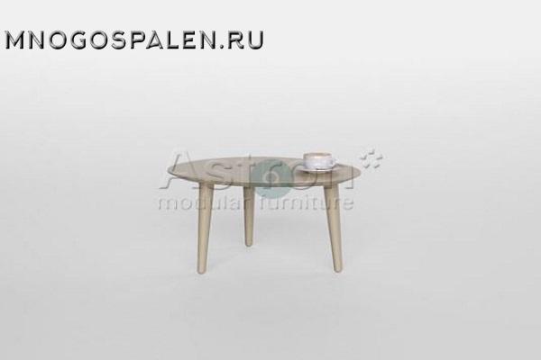 Овальный журнальный столик As89.213 Astron купить в салоне-студии мебели Барселона mnogospalen.ru много спален мебель Италии классические современные