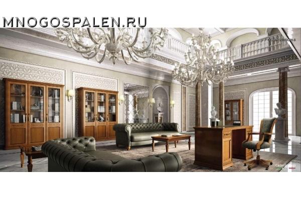 КАБИНЕТ TORRIANI  орех Camelgroup купить в салоне-студии мебели Барселона mnogospalen.ru много спален мебель Италии классические современные