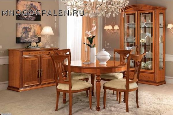 ГОСТИНАЯ SIENA композиция 2 Camelgroup купить в салоне-студии мебели Барселона mnogospalen.ru много спален мебель Италии классические современные