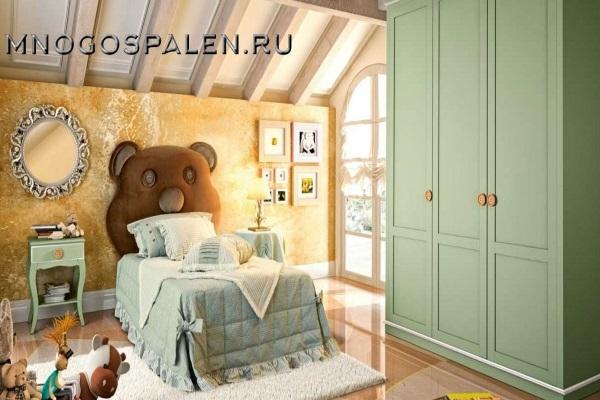 Детская кровать Bambino GM 03 купить в салоне-студии мебели Барселона mnogospalen.ru много спален мебель Италии классические современные