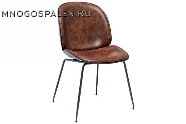 Стул Beetle PU коричневый купить в салоне-студии мебели Барселона mnogospalen.ru много спален мебель Италии классические современные