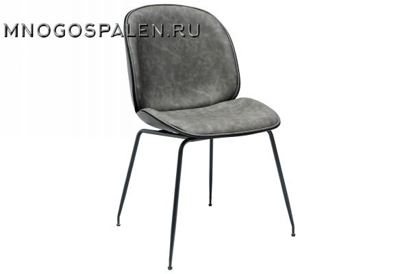 Стул Beetle PU серый купить в салоне-студии мебели Барселона mnogospalen.ru много спален мебель Италии классические современные