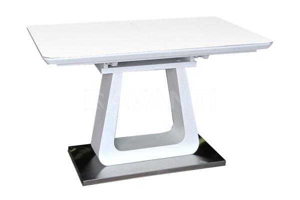 Стол обеденный WIND (1200-1600x800x760) белый матовый купить в салоне-студии мебели Барселона mnogospalen.ru много спален мебель Италии классические современные
