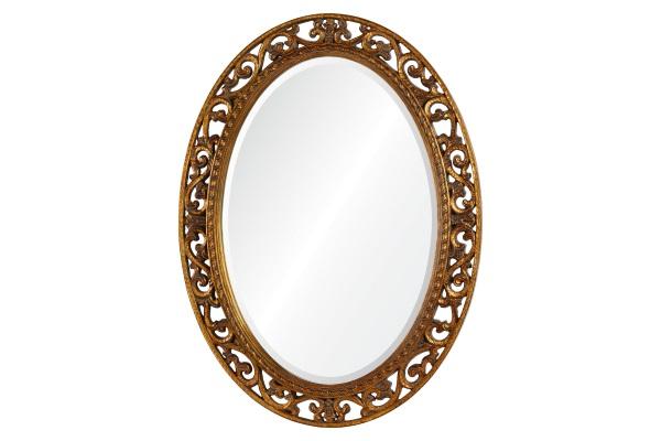 Зеркало Rosalie А88002-3 античное золото купить в салоне-студии мебели Барселона mnogospalen.ru много спален мебель Италии классические современные