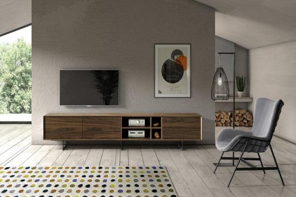 ТВ тумба DUPEN TV130 WALNUT купить в салоне-студии мебели Барселона mnogospalen.ru много спален мебель Италии классические современные