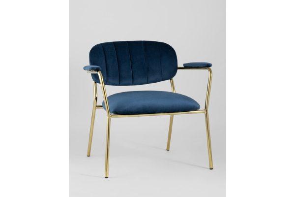 Кресло Кэрол синий купить в салоне-студии мебели Барселона mnogospalen.ru много спален мебель Италии классические современные